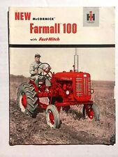 1950s International Harvester Farmall 100 Tractor Brochure Agriculture Equipment