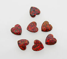 Pendant 10mm 1 pcs Jewellery Making Heart shaped Red Opal Beads Loose Charm