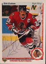 Dirk Graham Blackhawks Autographed 1990 Upper Deck #131 A Hockey Card JSA 16H