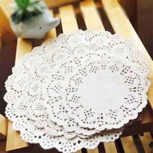 100pcs Creative Vintage Napkin Lace Paper Doilies Cake Holder Crafts Doyleys UK