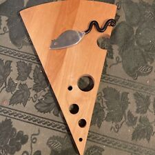 Novelty Wooden Cheese Board With Mouse-shaped Cheese Knife