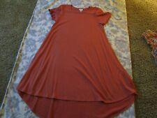 Lularoe Medium Carly Dress Solid Ribbed Orange Bnwt