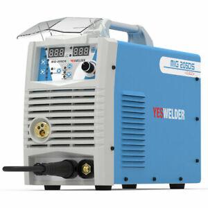 205A Digital MIG Welder 110/220V IGBT MIG ARC Lift TIG 3 in 1 Welding Machine
