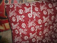 """IKEA ALVINE BLOMMIG (1) RED WHITE FLORAL QUILTED EURO PILLOW SHAM 26"""""""