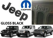 Oem Mopar 68228508aa Gloss Black Jeep Grill Emblem For Wrangler Jk Jku New Usa