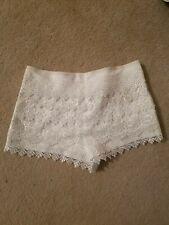 White Lace Crochet Shorts