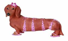 Aloha Bikini Red Doxy Dachshund Dog Figurine Collection