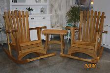 Sitzgruppe Terrassenmöbel Gartenmöbel Schaukelsessel Massivholz Eiche Unikat
