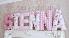 Fabric letters Wall Art Handmade Padded, Nursery, name, personalised, girl, boy