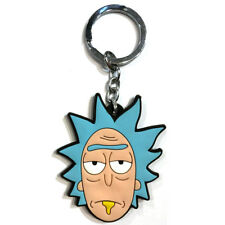 New Rick and Morty Soft Rubber Keyring Keychain Double Sides #1