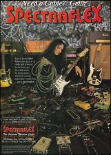 Jake E. Lee 1995 Spectraflex Guitar Cables ad 8 x 11 advertisement print