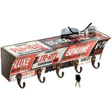 Harley-Davidson® License Plate 5 Hook Wall Metal Key Rack (15.75x4x4) HDL-15318