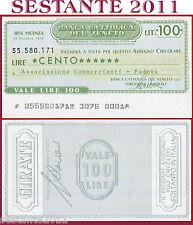 BANCA CATTOLICA DEL VENETO Lire 100 29.10. 1976 ASSOC. COMMERCIANTI  PADOVA B91