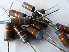 10 x Kohlemasse Widerstand 6.8 KOhm, 2W, Carbon Comp Resistors