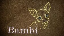 CUSTOM - PERSONALIZE CHIHUAHUA DOG PUPPY BREED WHITE BATH TOWEL