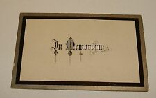 "ORIG 1896 ""IN MEMORIAM"" 2 PART MOURNING CARD - CHOLSEY SOUTH OXFORD BERKS UK"