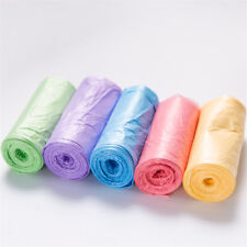 1-Roll(20pcs) Rubbish Garbage Kitchen Toilet Clean-up Waste Trash Bags 6 Colors