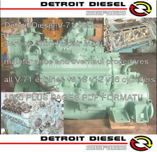 Detroit Diesel Series 71 Service Manual Engine Motor Workshop Service Manual  CD
