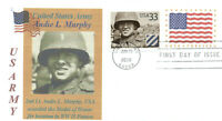 1st LT. AUDIE MURPHY Famous World War II Army Soldier Sc# 3396 First Day PM