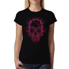 High Voltage Skull Women T-shirt XS-3XL