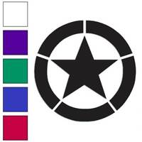 Army Star Decal Sticker Choose Color + Size #70