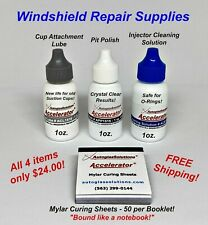Windshield Repair Kit Supplies Mylar Curing Film Sheets