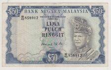 B/42 858912 3rd Series RM50 Ismail Ali Malaysia