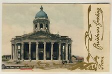 South Africa BLOEMFONTEIN The Raad Zaal / Town Hall * Vintage 1900s X-Mas PC