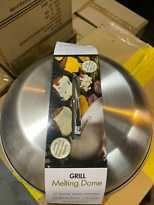 Melting Dome 12 Inch Grilling Cooking Accessory Kitchen Round Stainless Steel