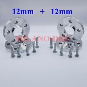 4 DISTANZIALI RUOTA 12+12mm FORD C-MAX - MONDEO - KUGA  + COLONNETTA