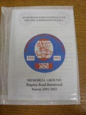 10/11/2001 Burntwood Città V wyrley Rangers [Staffordshire COPPA]. grazie per la vista