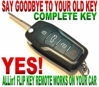 New style flip key for 2008-2009 HUMMER H2 OUC60270 chip clicker remote start GT