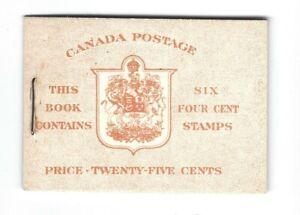 Canada 1953 Karsh  Booklet #BK45 MNH  4c violet pane of 6  MNH Bilingual Cover