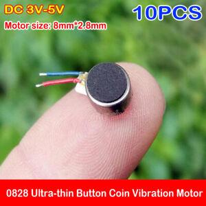 10PCS Micro 8mm*2.8mm Vibration Motor DC 3V-5V Ultra-thin Button Coin Vibrator