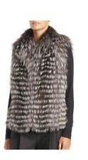 Michael Kors Collection Silver Fox Fur Vest NEW Medium M LUXURIOUS