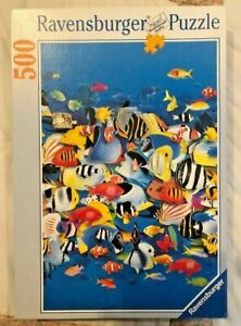 Ravensburger Puzzle ~Rush Hour~ Colorful Tropical Fish 500 Pieces-pre owned