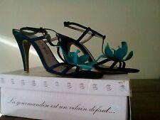 Escarpins LOLLIPOPS en 40 bleu dur turquoise paillettes sandales chaussures NEUF