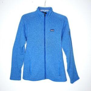 Patagonia Better Sweater Women's Medium M Full Zip Fleece Jacket Blue