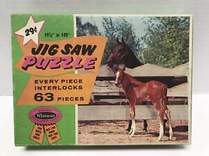 "Vintage Whitman Horse Jig Saw Puzzle 63 pieces No.4429 Series No.302 11.5"" X 15"""
