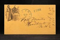 New Hampshire: Concord 1856 Stampless Printing Press Illustrated Cover