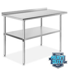 "Stainless Steel 24"" x 48"" Nsf Kitchen Restaurant Work Prep Table with Backsplash"