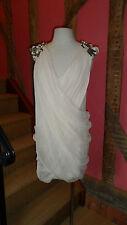 UK 14 Chiffon Draped Glitter Adorned Mini Dress by French Connection
