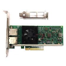 Dell X540-T2/Intel 10GbE Genuino doble puerto adaptador de red convergente K7H46/3DFV8