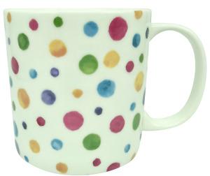 Large 1pt China Mug In the Polka Dot Design