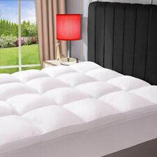 Extra Thick Fitted Pillow Top Down Feather Mattress Topper 3 Inch Cal King Size