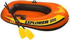 New INTEX Explorer 200 Boat Set Inflatable Raft 2 Oars + Air Pump 6 Feet BNIB