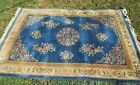 """GORGEOUS LARGE CHINESE HANDWOVEN SCULPTED VINTAGE ART DECO RUG 72"""" X 120"""" PLUSH"""