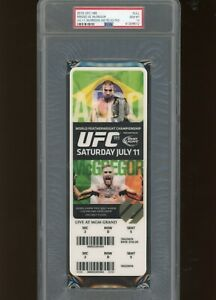 2015 UFC 189 FULL TICKET STUB CONOR MCGREGOR PSA 10 POP 1 MENDES 1ST BELT