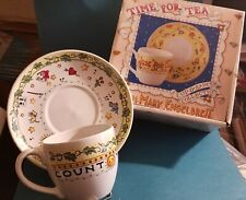 Mary Engelbreit Count Your Blessings Time For Tea Cup & Saucer set