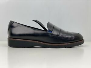 Marks And Spencer Womens Black Leather Loafers UK Size 5.5